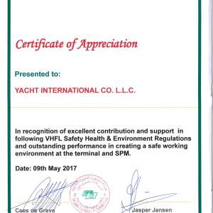 APPRECIATION FROM LEADING MNC
